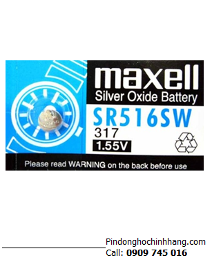 Pin Maxell SR516SW _Pin 317