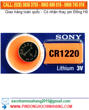 Pin Sony CR1220 _Pin CR1220 lithium 3v