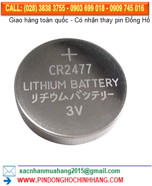 Pin CR2477 LITHIUM 3V