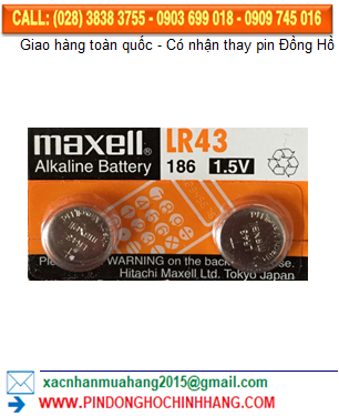 Pin Maxell LR43 AG12 _Pin 186
