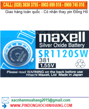 Pin Maxell SR1120SW _Pin 381