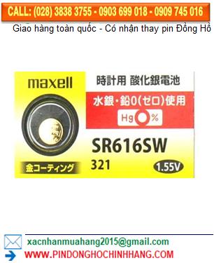 Pin Maxell Gold SR616SW (xi mạ vàng)