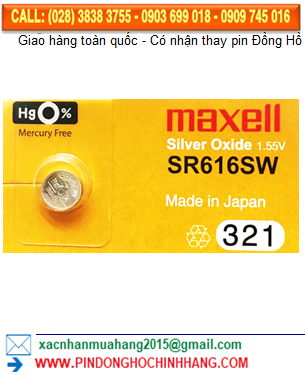 Pin Maxell SR616SW _Pin 321