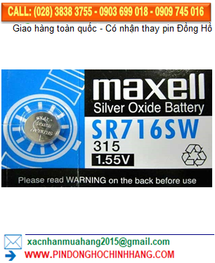 Pin Maxell SR716SW _Pin 315