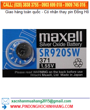 Pin Maxell SR920SW _Pin 371