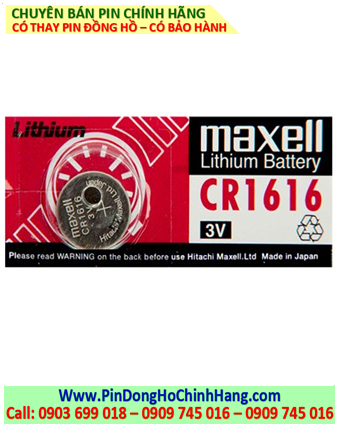 Pin Maxell CR1616 _Pin CR1616